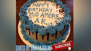 DECORACION SENCILLA | PASTEL DE CHOCOLATE | BIRTHDAY CAKE | FOR HIM-PARA HOMBRE 🎂🎂
