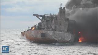 Chinese salvation team boards stricken oil tanker Sanchi before it sinks
