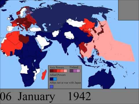 Druhá světová válka – mapa světa den po dni