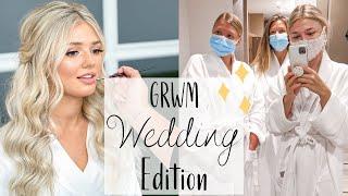 GRWM For my Wedding | Wedding Makeup & Hair + Covid Test + Spa Day