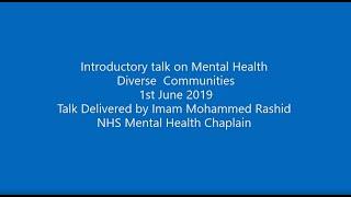 Mental Health - Diverse  Communities - 1st June 2019