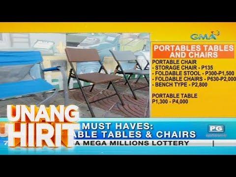 [GMA]  Unang Hirit: Portable tables and chairs, ibinida sa 'Unang Hirit'