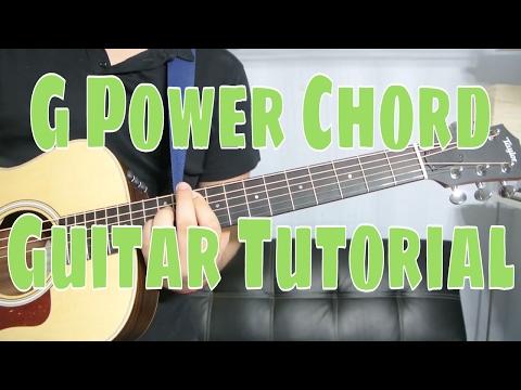 How To Play a G Power Chord (Chord Guitar Tutorial!!)