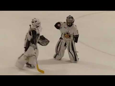 8 year old hockey goalie dances to Juju on that beat
