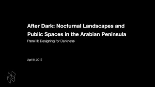 After Dark: Nocturnal Landscapes and Public Spaces in the Arabian Peninsula, Panel II