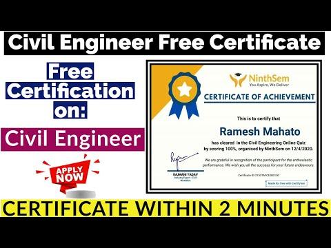 Civil Engineering Free Certification | Free Certificate | Civil ...