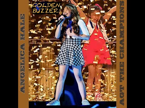"""ANGELICA HALE """"FIGHT SONG"""" WINS THE GOLDEN BUZZER ON AGT THE CHAMPIONS (видео)"""