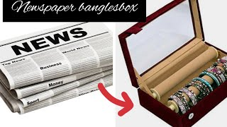 Diy: Bangles Box With Newspaper How To Make Bangles Storage Box  Jewelery Organizr Best Out Of Waste