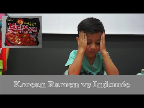Indonesian Kids : React To Korean Ramen Vs Indomie