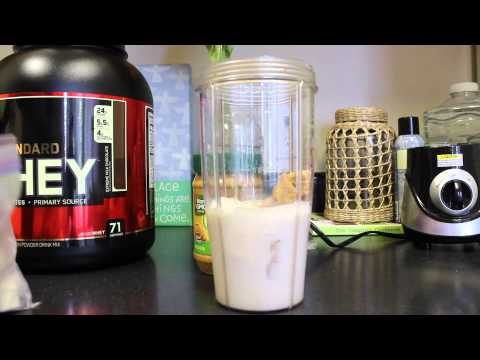 How to Make A Simple Delicious Muscle Building Protein Shake | Layne Jackson