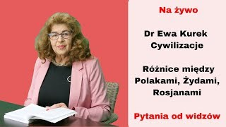 Dr Ewa Kurek : Cywilizacje: Różnice między Polakami, Żydami, Rosjanami