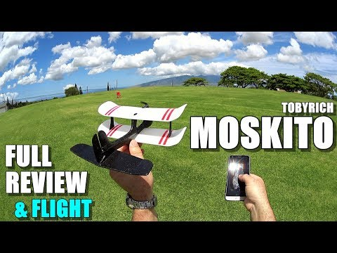TOBYRICH MOSKITO Smartphone Controlled Airplane – Full Review – [Unboxing, Setup, Flight Test]