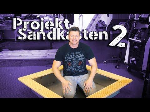Projekt Sandkasten 2 Holzbearbeitung und Fertigstellung.