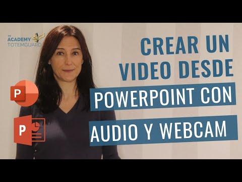 Cómo crear un video desde PowerPoint con audio y webcam