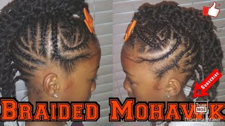 Natural Hairstyle For Kids: Braided Mohawk