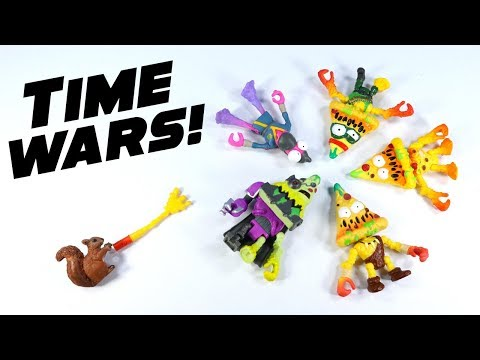 Grossery Gang Time Wars Action Figures Putrid and Cyber-Slop Pizza