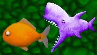 Tasty Blue #9 ЗУБАСТЫЕ АКУЛА и Касатка голодные Игровой мультик видео от КИДА #КРУТИЛКИНЫ