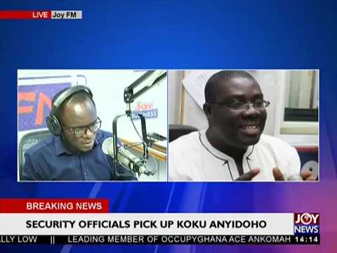Security Officials Pick Up Koku Anyidoho on JoyNews (27-3-18)