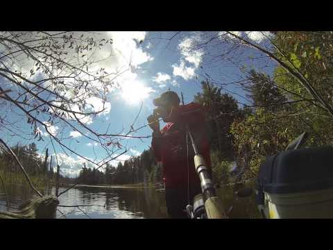 Bass Fishing Conservation Pond Fort Drum NY October 20th 2013