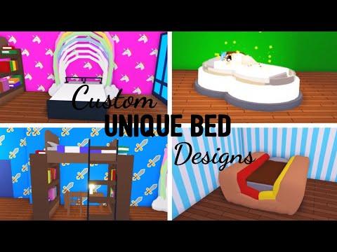 6 Custom BED Design Ideas & Building Hacks (Roblox Adopt me