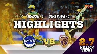 T10 League Season 1,  Semi Final 2, Punjabi Legends Vs Pakhtoon