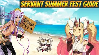 Fate Grand Order NA Servant Summer Festival Part 1 COMPLETE Guide, Tips & Strategy