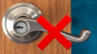 Install a new Schlage lever handle the right way!