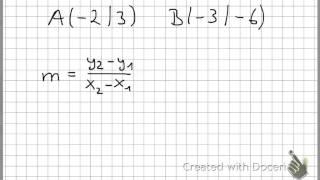 Lineare Funktionen - Geradengleichung aus 2 Punkten berechnen ...