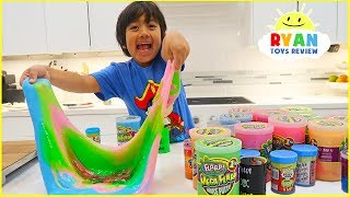 Mixing All Our Slimes Together Making Giant Slime Smoothies!