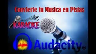 Convierte tu Música en Pistas para Karaoke con Audacity.
