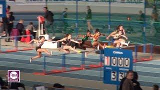 Val de Reuil 2018 : Finale 60 m haies Juniors F (Laeticia Bapte en 8''38)