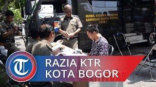 Penjual Handphone dan Sopir Angkot Terjaring Razia KTR di Kota Bogor