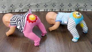 НА ХОЛОДНОМ ПОЛУ ИГРАТЬ НЕЛЬЗЯ! Куклы #БебиБон Двойняшки Игрушки Для детей 108mamaTV
