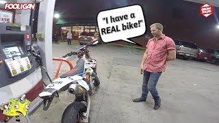 Drunk Dude Hates on my KTM Supermoto