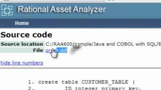 IBM Rational Asset Analyzer: Custom Query (CQ) and User Defined Relationship (UDR)