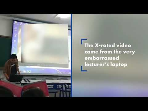 Sex video accidentally played from college professor's laptop