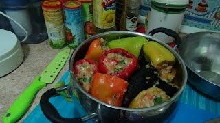 Овощи фаршированные мясом легко и просто.