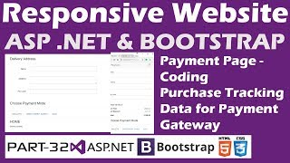 Responsive Website-ASP.NET&Bootstrap-Part 32-Online Shopping Site-Payment Page-Purchase Tracking