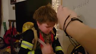 Fireman Duley: TURNOUT GEAR AND SCBA DRILL