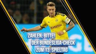 Zahlen, bitte! Der Bundesliga-Check zum 13. Spieltag
