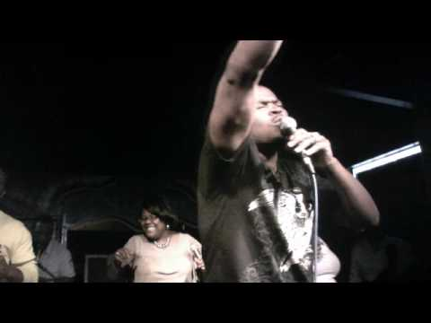 Donta' Young performing in concert at the Edge