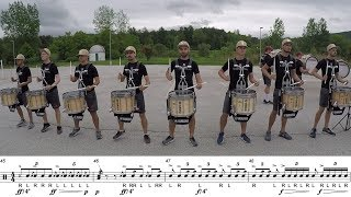 "2018 Boston Crusaders Snares - LEARN THE MUSIC to ""Marimba Spiritual"""