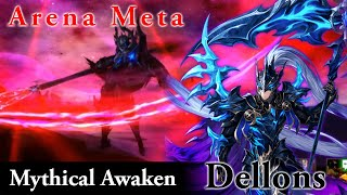 SEVEN KNIGHTS] MYTHICAL AWAKENED DELLONS ~2 Comp Arena Test!~ - Thủ