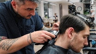 Medium Length Haircut When Growing Out Hair PART 2 | Long On Top Short On Sides Taper Hairstyle