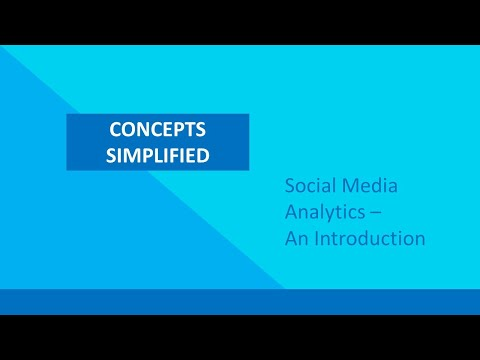 , title : 'An introduction to Social Media Analytics