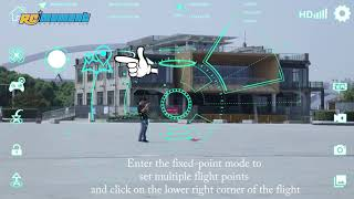 FEI LUN FX176C2 2.0MP Camera WiFi FPV Drone Follow Me Orbit Mode Height Hold GPS Quadcopter RM8752