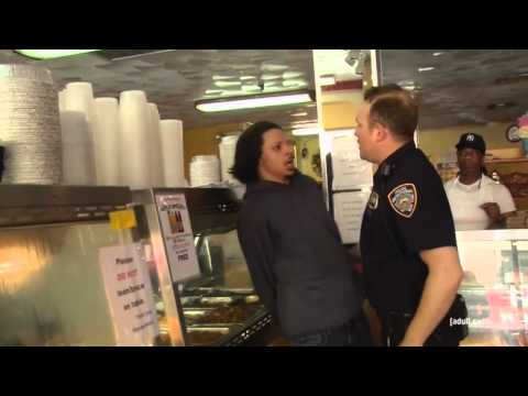 Eric Andre gets arrested by a cop