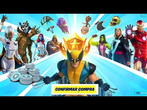 Comprei Meu Primeiro Passe de Batalha da Marvel no FORTNITE!!! [Gameplay PC em PT-BR]