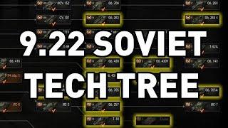 World of Tanks || 9.22 Soviet Tech Tree