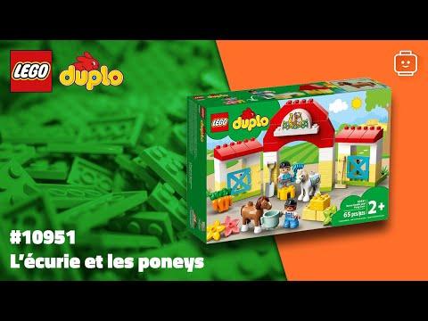 Vidéo LEGO Duplo 10951 : L'écurie et les poneys